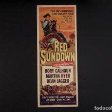 Cine: CARTEL CINE WESTERN, RED SUNDOWN, 1956. Lote 67283341