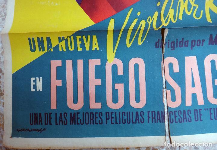 Cine: CARTEL CINE , FUEGO SAGRADO , 1947 , CALOS VEGA , ORIGINAL - Foto 2 - 67305109