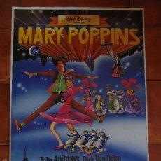 Cine: CARTEL REEDICION DE LA PELICULA MARY POPPINS DE WALT DISNEY. Lote 58212670