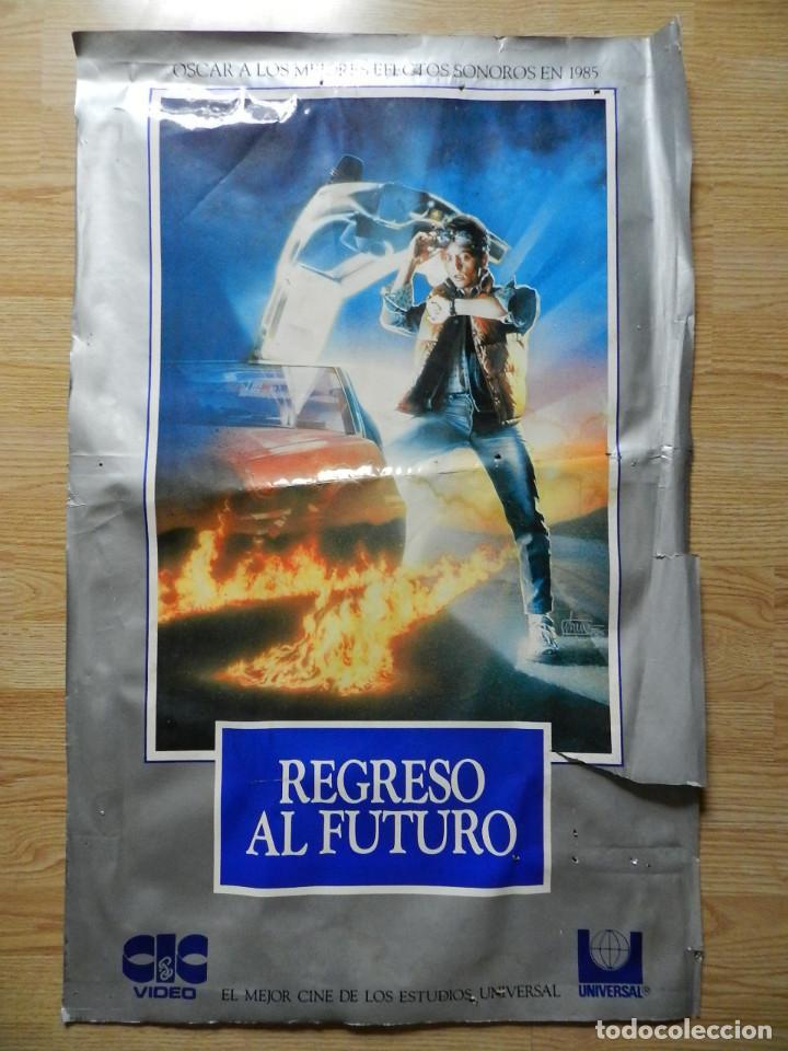 CARTEL REGRESO AL FUTURO BACK TO THE FUTURE POSTER ORIGINAL ESTRENO VHS VIDEOCLUB 62X97CM MUY RARO (Cine - Posters y Carteles - Ciencia Ficción)