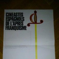 Cine: CARTEL DEL CICLO CINÉASTES ESPAGNOLS DE L'APRÈS-FRANQUISME PARIS 1979. VIRGILIO VILLALBA.. Lote 67422325