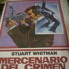 Cine: PÓSTER ORIGINAL DE 70X100CM MERCENARIO DEL CRIMEN. Lote 67554269