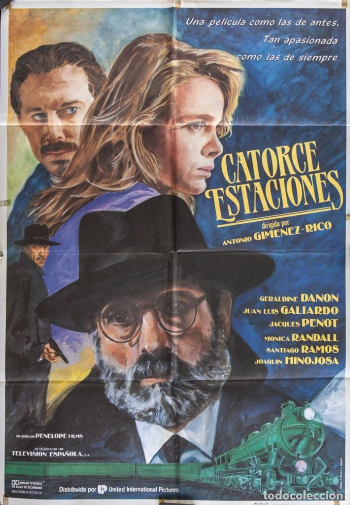 CARTEL DE CINE CATORCE ESTACIONES. 1991 70*100CM (Cine - Posters y Carteles - Suspense)