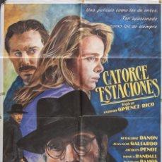 Cine: CARTEL DE CINE CATORCE ESTACIONES. 1991 70*100CM. Lote 67574721