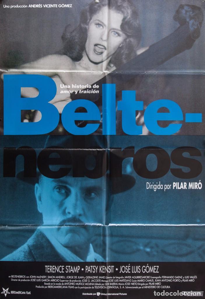 CARTEL DE CINE BELTENEBROS. 1991 70*100CM (Cine - Posters y Carteles - Suspense)