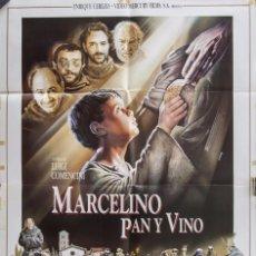 Cinema - Cartel de cine MARCELINO PAN Y VINO. 1991 70*100cm - 67577401