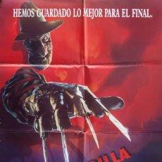 Cine: CARTEL DE CINE APESADILLA FINAL: LA MUERTE DE FREDDY (PESADILLA EN ELM STREET 6) 1991 70*100CM. Lote 103475908