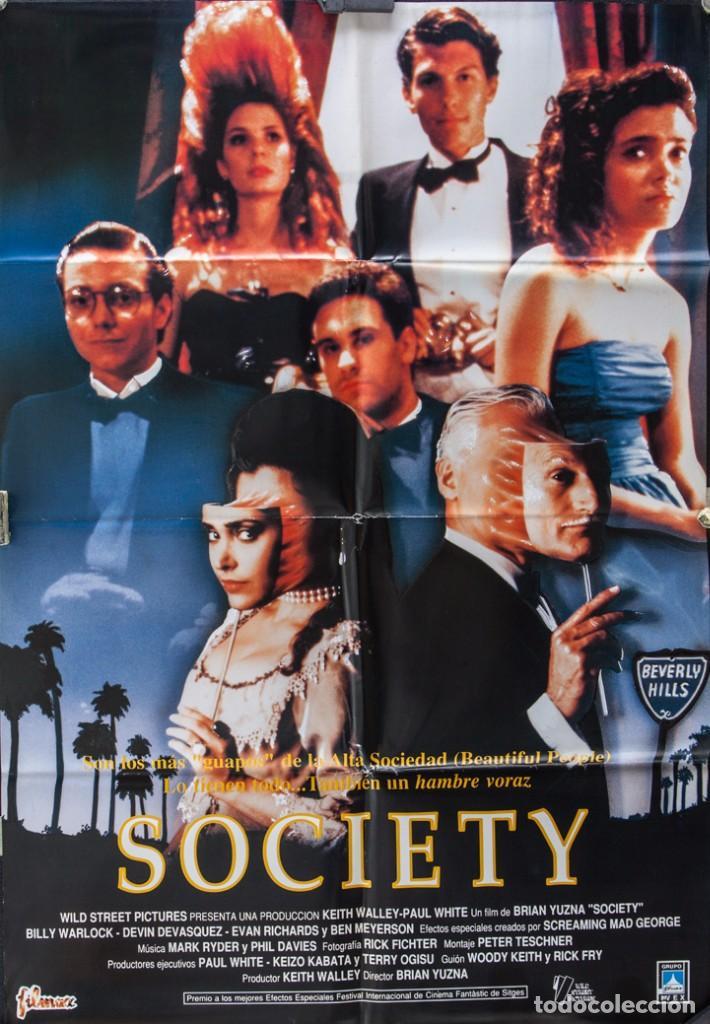 CARTEL DE CINE SOCIETY 1989 70*100CM (Cine - Posters y Carteles - Terror)