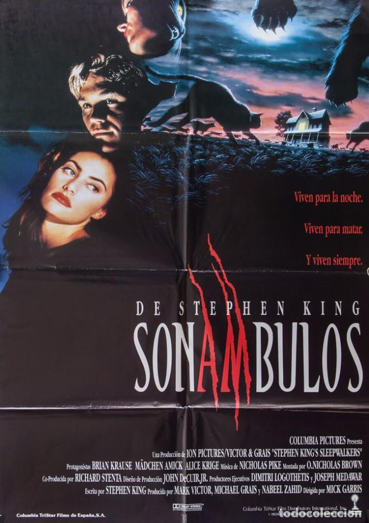 CARTEL DE CINE SONAMBULOS 1992 70*100CM (Cine - Posters y Carteles - Terror)