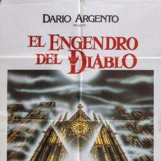 Cine: CARTEL DE CINE EL ENGENDRO DEL DIABLO 1989 70*100CM. Lote 67588869