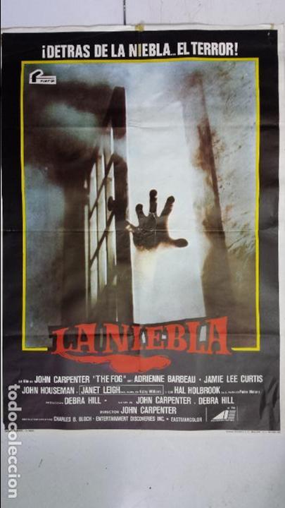 ANTIGUO Y ORIGINAL CARTEL DE CINE 70 X 100 CM. LA NIEBLA - 1980 (Cine - Posters y Carteles - Terror)