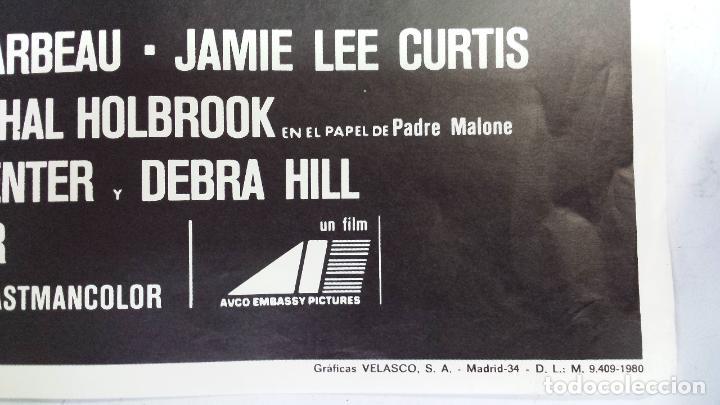Cine: ANTIGUO Y ORIGINAL CARTEL DE CINE 70 X 100 CM. LA NIEBLA - 1980 - Foto 3 - 67621241
