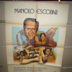 Cine: TODO ES POSIBLE EN GRANADA MANOLO ESCOBAR LUIS VARELA POSTER ORIGINAL 70X100 YY (1510). Lote 67876705