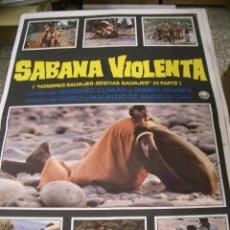 Cine: PÓSTER DE CINE ORIGINAL 70X100CM SABANA VIOLENTA. Lote 68128737