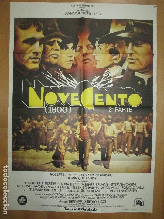 CARTEL CINE, NOVECENTO, 1900, 2ª PARTE, ROBERT DE NIRO, GERARD DEPARDIEU, 1978, C865 (Cine- Posters y Carteles - Drama)
