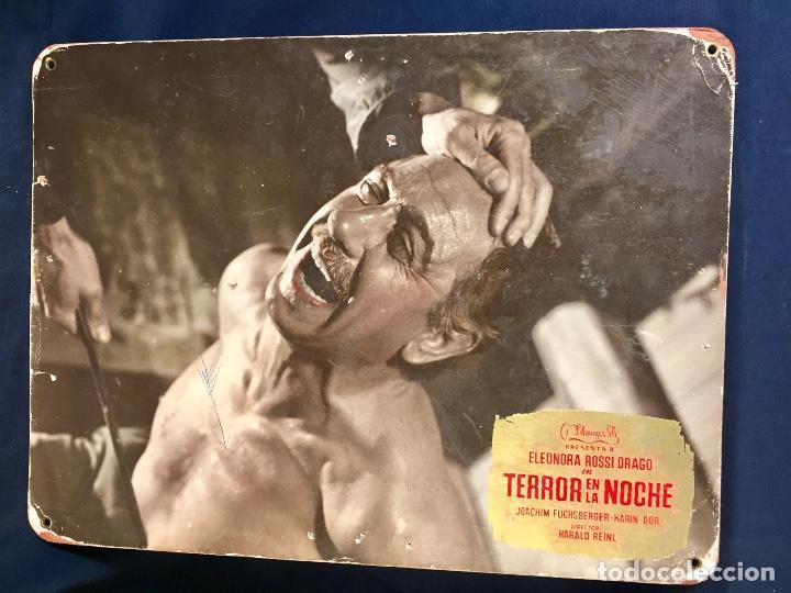 CARTELERA CINE LOBBY CARD TERROR EN LA NOCHE ELEONORA ROSSI DRAGO DOR REINL 29X39CMS (Cine - Posters y Carteles - Terror)
