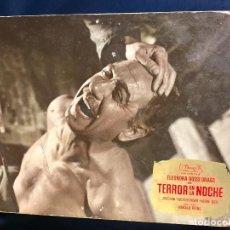Cine: CARTELERA CINE LOBBY CARD TERROR EN LA NOCHE ELEONORA ROSSI DRAGO DOR REINL 29X39CMS. Lote 68170517