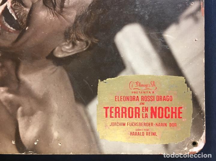 Cine: cartelera cine lobby card terror en la noche eleonora rossi drago dor reinl 29x39cms - Foto 2 - 68170517