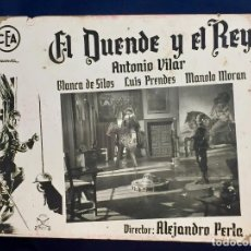 Cine: CARTELERA CINE LOBBY CARD EL DUENDE Y EL REY VILAR DE SILOS PRENDES MORAN PERLA 29X39CMS. Lote 68171913