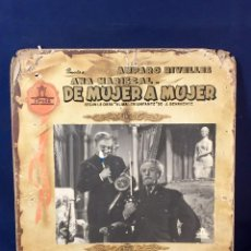 Cine: CARTELERA CINE LOBBY CARD DE MUJER A MUJER RIVELLES MARISCAL FAJARDO LUCIA 31X37CMS. Lote 68172569