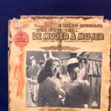 Cine: CARTELERA CINE LOBBY CARD DE MUJER A MUJER RIVELLES MARISCAL FAJARDO LUCIA 31X37CMS. Lote 68172685