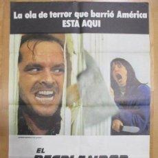 Cine: CARTEL CINE, EL RESPLANDOR, THE SHINING, JACK NICHOLSON, 1980, C885. Lote 68181773