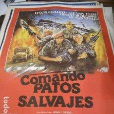 Cine: PÓSTER DE CINE ORIGINAL 70X100CM COMANDO PATOS SALVAJES. Lote 68348349