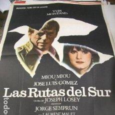 Cine: PÓSTER DE CINE ORIGINAL 70X100CM LAS RUTAS DEL SUR. Lote 68348541