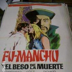 Cine: POSTER ORIGINAL DE CINE 70X100CM FU-MANCHU Y EL BESO DE LA MUERTE. Lote 85794987