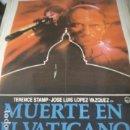 Cine: POSTER ORIGINAL DE CINE 70X100CM MUERTE EN EL VATICANO. Lote 68349333