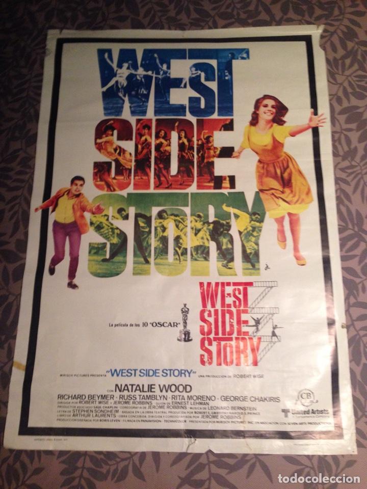 "CARTEL/POSTER DE CINE "" WEST SIDE STORY "" 1971 (Cine - Posters y Carteles - Musicales)"