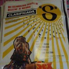 Cine: SEX MUSIC. CARTEL DE CINE- MOVIE POSTER. 100X70 CM. Lote 68494481