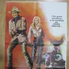 Cine: CARTEL CINE, LADRONES DE TRENES, JOHN WAYNE, ANN MARGRET, 1975, MCP, C889. Lote 68503633