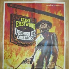 Cine: CARTEL CINE, INFIERNO DE COBARDES, CLINT EASTWOOD, 1973, MAD, C891. Lote 68504669