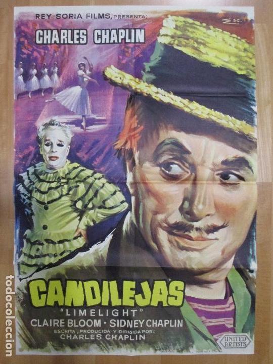 CARTEL CINE, CANDILEJAS, CHARLES CHAPLIN, 1966, C896 (Cine- Posters y Carteles - Drama)