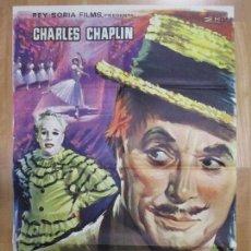 Cine: CARTEL CINE, CANDILEJAS, CHARLES CHAPLIN, 1966, C896. Lote 68508425
