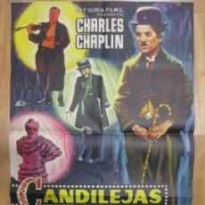 Cine: CARTEL CINE, CANDILEJAS, CHARLES CHAPLIN, 1966, C900. Lote 68510605