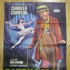 Cine: CARTEL CINE, CANDILEJAS, CHARLES CHAPLIN, CLAIRE BLOOM, C902. Lote 68511737