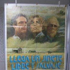 Cine: CARTEL CINE ORIG LLEGA UN JINETE LIBRE Y SALVAJE (1978) / 70X100 / JAMES CAAN / JANE FONDA. Lote 68552741