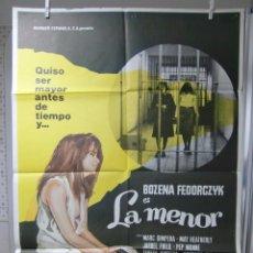 Cine: CARTEL CINE ORIG LA MENOR (1976) / 70X100 / PEDRO MASÓ. Lote 68687473