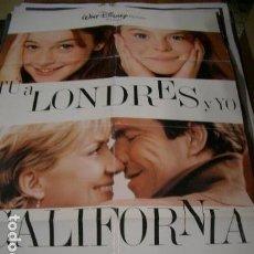 Cine: PÓSTER DE CINE ORIGINAL 70X100CM TUÚ A LONDRES Y YO A CALIFORNIA, DE DISNEY. Lote 68884297