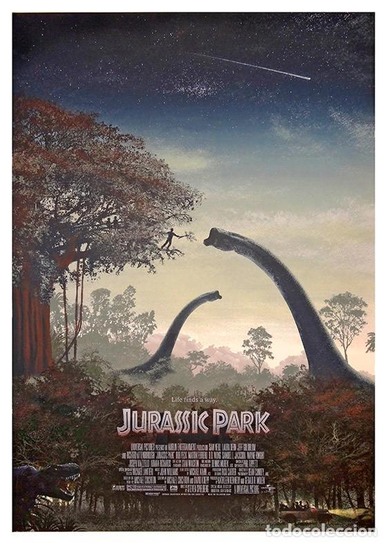 JURASSIC PARK. SPIELBERG. LÁMINA CARTEL 45 X 32 CMS. (Cine - Posters y Carteles - Acción)