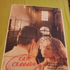 Cine: PÓSTER ORIGINAL DE CINE 70X100CM CASO CERRADO,PEPA FLORES, PATXI BISQUERT . Lote 69011421