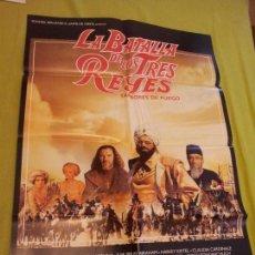 Cine: CARTEL DE CINE. LA BATALLA DE LOS TRES REYES. 98 X 68 CM.. Lote 69012457