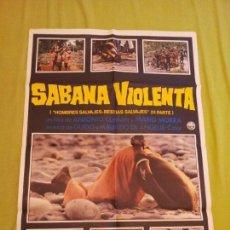 Cine: SABANA VIOLENTA. ( HOMBRES SALVAJES, BESTIAS SALVAJES 2ª PARTE ). AÑO 1979.. Lote 69012629