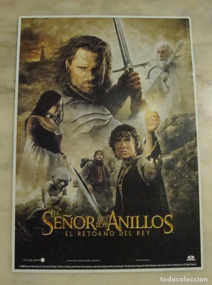 (TC-11) CARTEL PEQUEÑO 30 X 21 CM EL SEÑOR DE LOS ANILLOS EL RETORNO DEL REY (Cine - Posters y Carteles - Aventura)