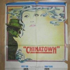 Cine: CARTEL CINE, CHINATOWN, JACK NICHOLSON, FAYE DUNAWAY, 1974, C920. Lote 69430157