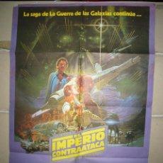 Cine: EL IMPERIO CONTRAATACA STAR WARS EPISODIO V POSTER ORIGINAL 70X100 DEL ESTRENO MODELO A. Lote 69609477