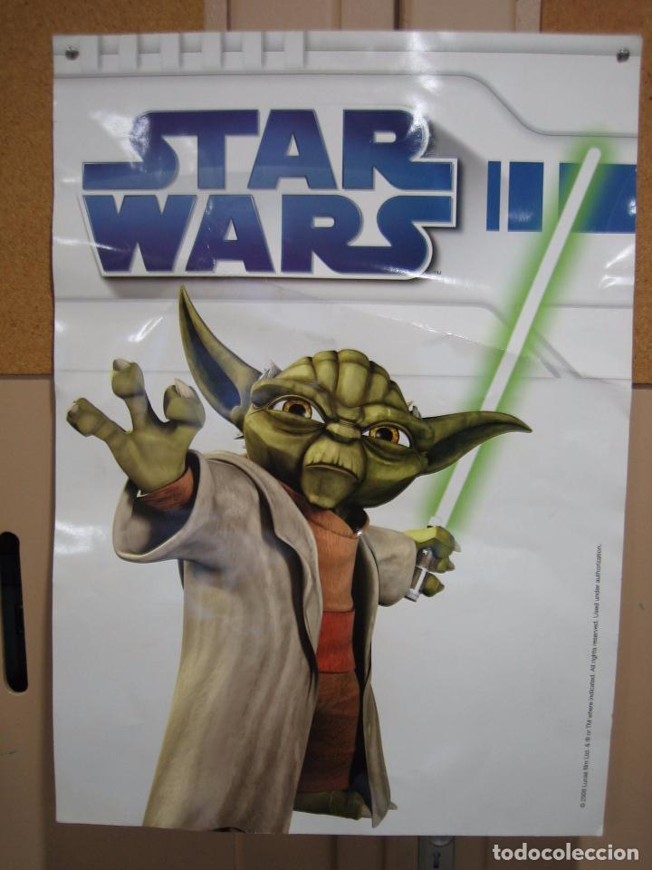 Cine: Póster de Star Wars 2008 a doble cara en cartulina gruesa 50x70 cm - Foto 2 - 69785369