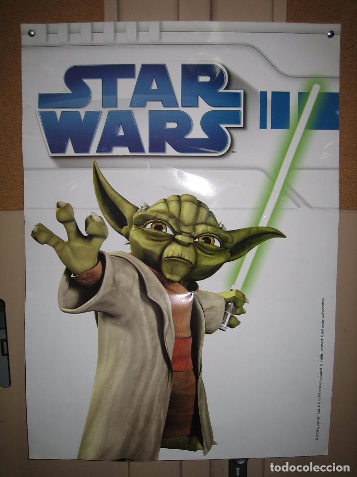 Cine: Póster de Star Wars 2008 a doble cara en cartulina gruesa 50x70 cm - Foto 3 - 69785369
